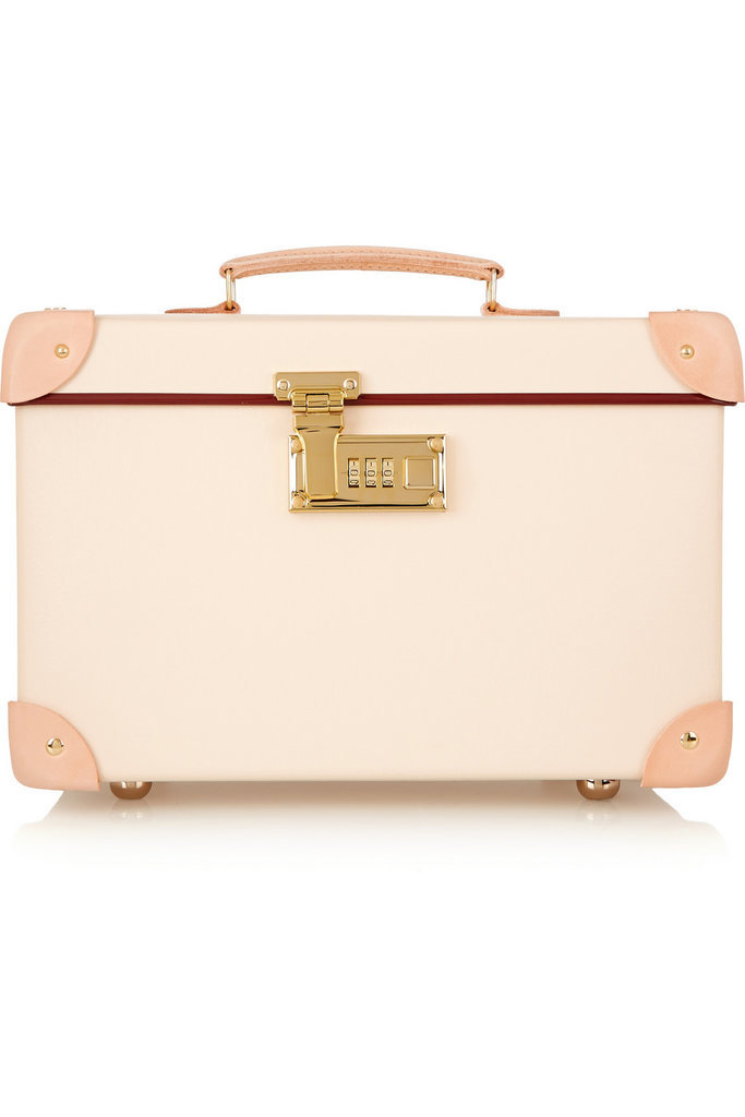 You can't go wrong toting your things in the same heritage brand luggage that Queen Elizabeth II relies on, right? Especially since this Globe-Trotter safari leather-trimmed fiberboard vanity case ($1,010) is lighter than aluminium but more durable than leather.