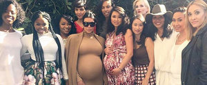Kim Kardashian Shows Off Her Growing Bump at a Friend's Baby Shower