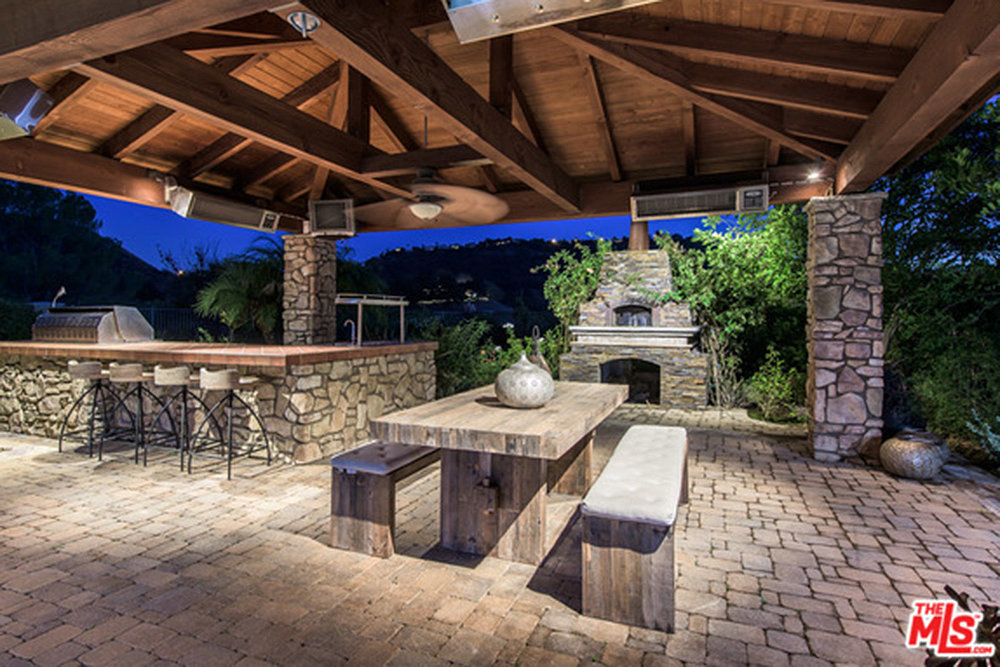 A covered outdoor kitchen is the perfect setting for for Perfect outdoor kitchen