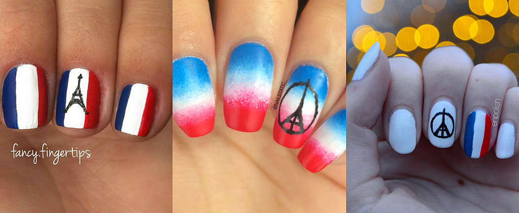 POPSUGAR Shout Out: Show Your Support With These #PrayForParis Nail Art Ideas