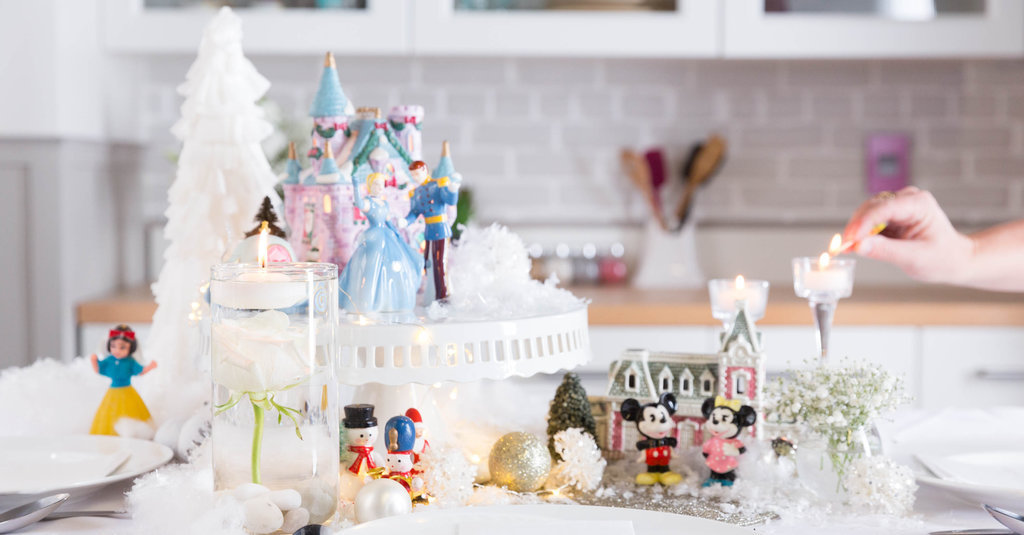 Bring Disney Home With This Sparkling Winter Tablescape