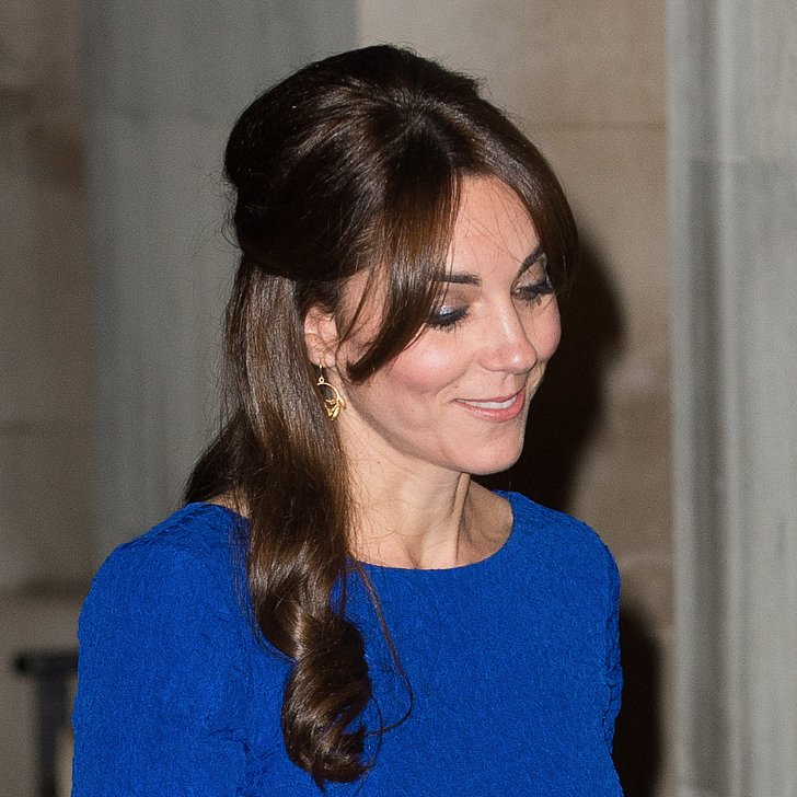 kate middleton halfup hair idea popsugar beauty