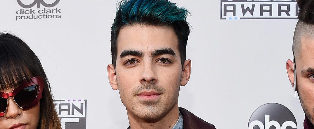 Joe Jonas Just Debuted Merman Blue Hair at the AMAs