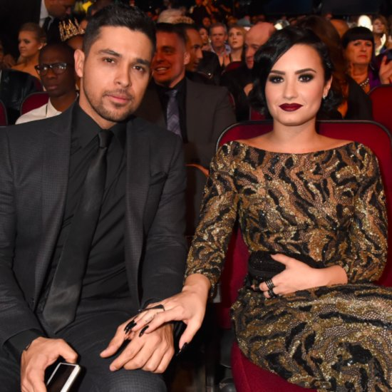 Demi Lovato and Wilmer Valderrama at the 2015 AMAs