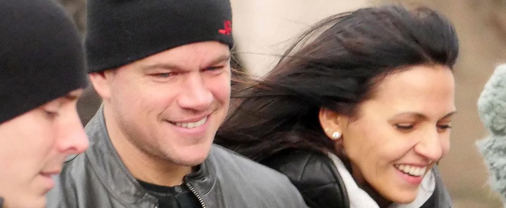 Matt Damon and Luciana Barroso Have the Look of Love in Berlin