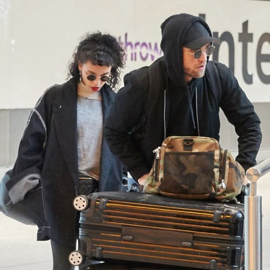 Robert Pattinson and FKA Twigs at LAX Airport November 2015