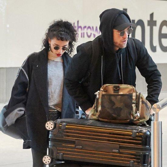 Robert Pattinson and FKA Twigs at LAX Airport November 2015