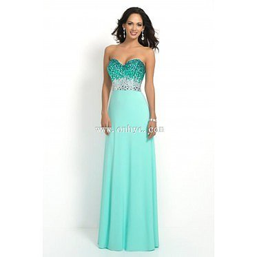 Sexy Sweetheart Natural Floor Length Chiffon Green Sleeveless Prom Dress with Crystal