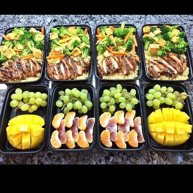Teriyaki Chicken With Quinoa, Fruit, and Veggies
