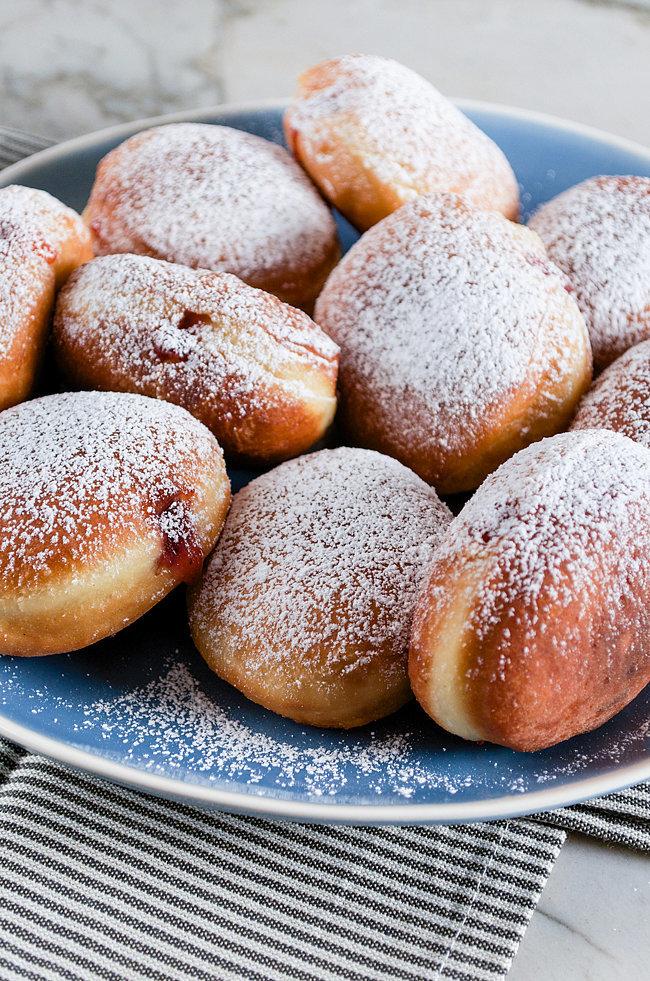 Jelly-Stuffed Challah Doughnuts