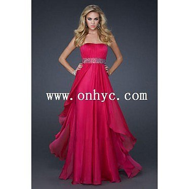 Sweet A Line Strapless Knee Length Red Organza Prom Dre