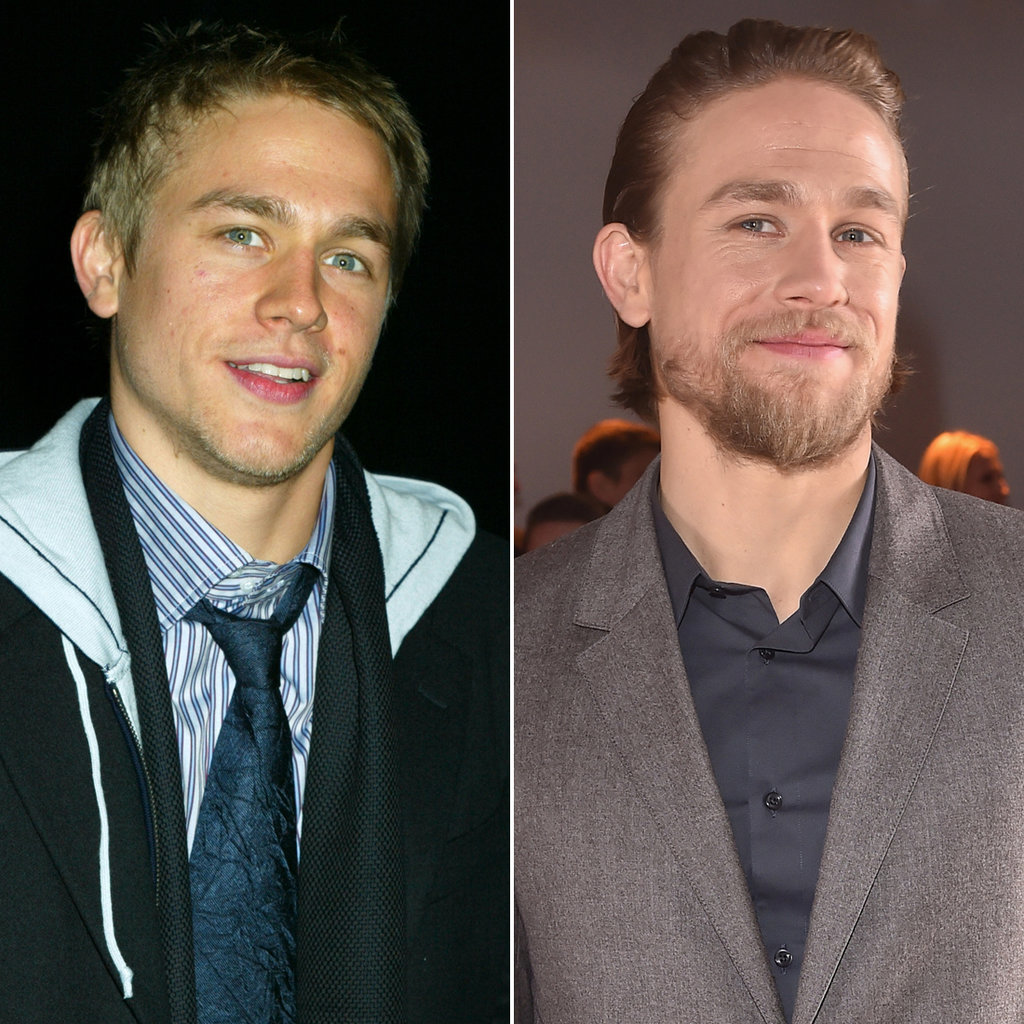 Charlie Hunnam in 2005 and 2015