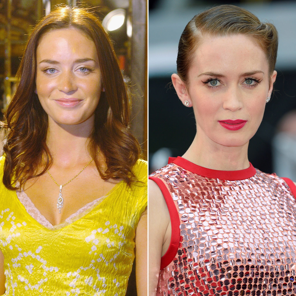 Emily Blunt in 2005 and 2015