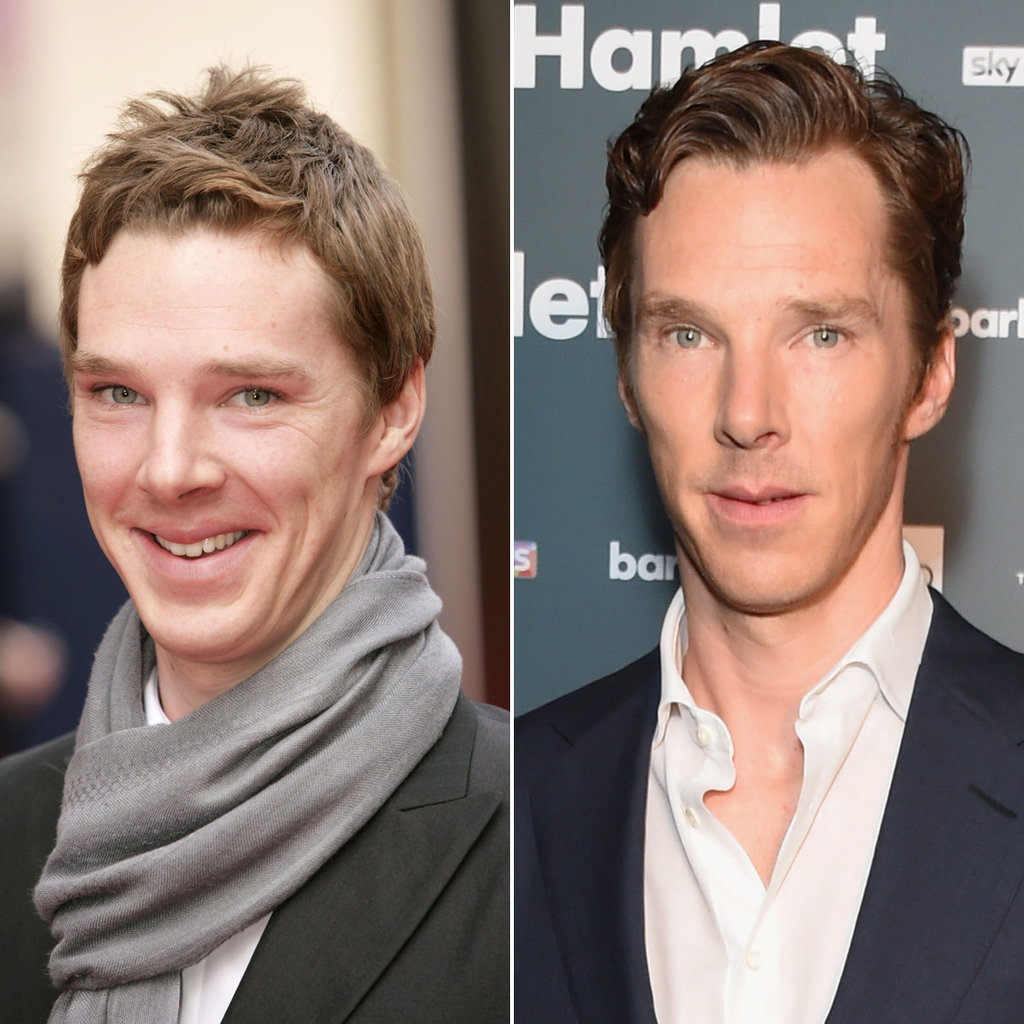 Benedict Cumberbatch in 2005 and 2015