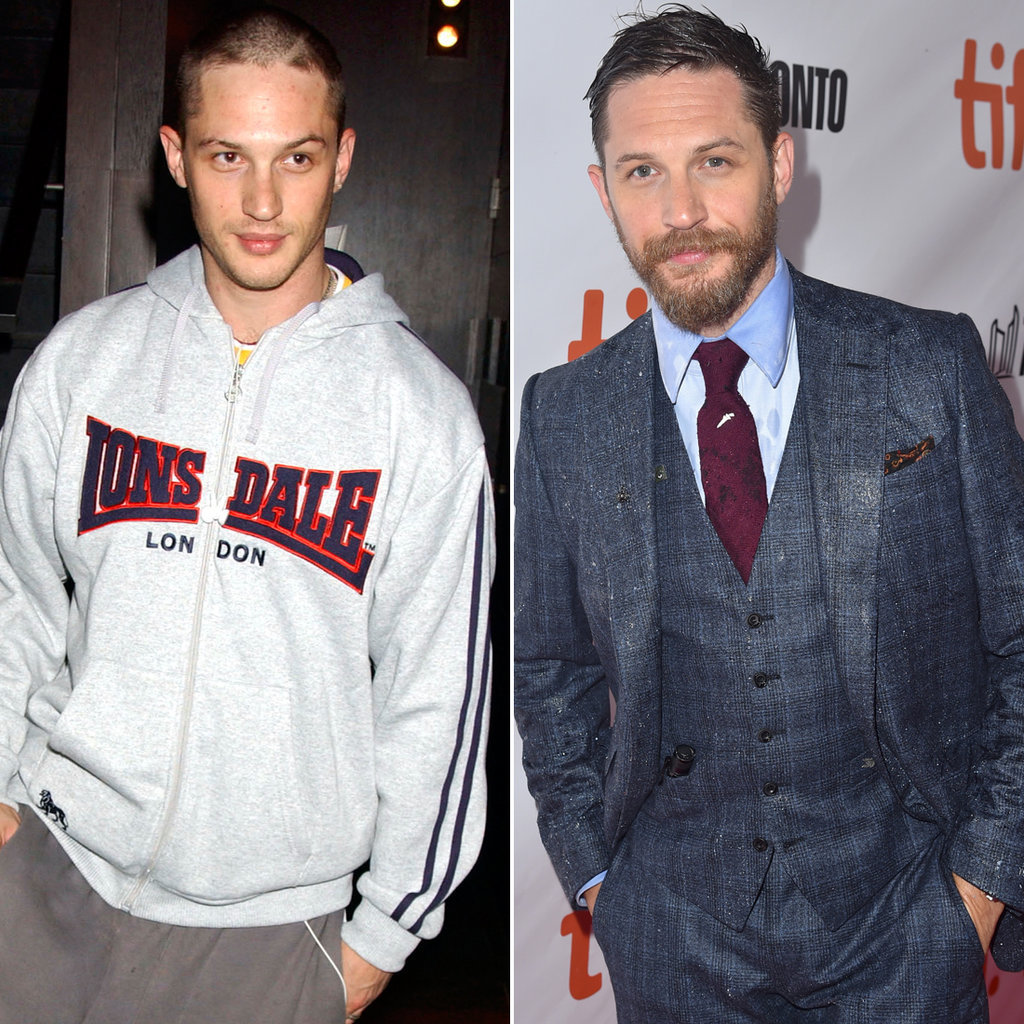 Tom Hardy in 2005 and 2015