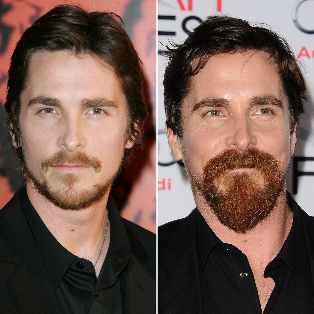 Christian Bale in 2005 and 2015