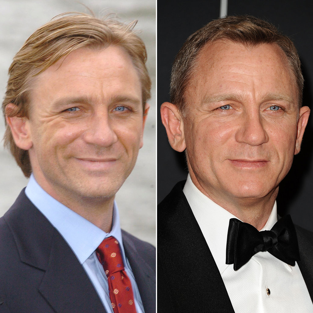 Daniel Craig in 2005 and 2015