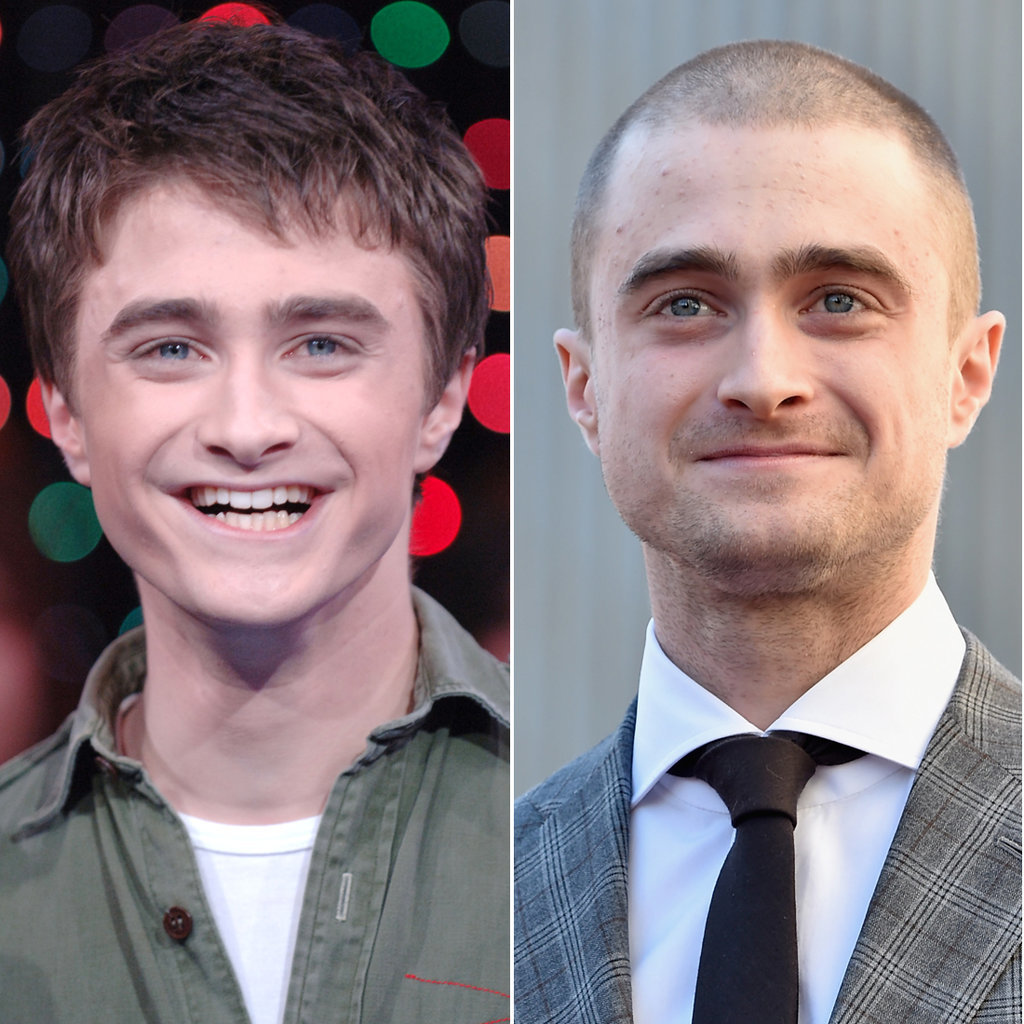 Daniel Radcliffe in 2005 and 2015