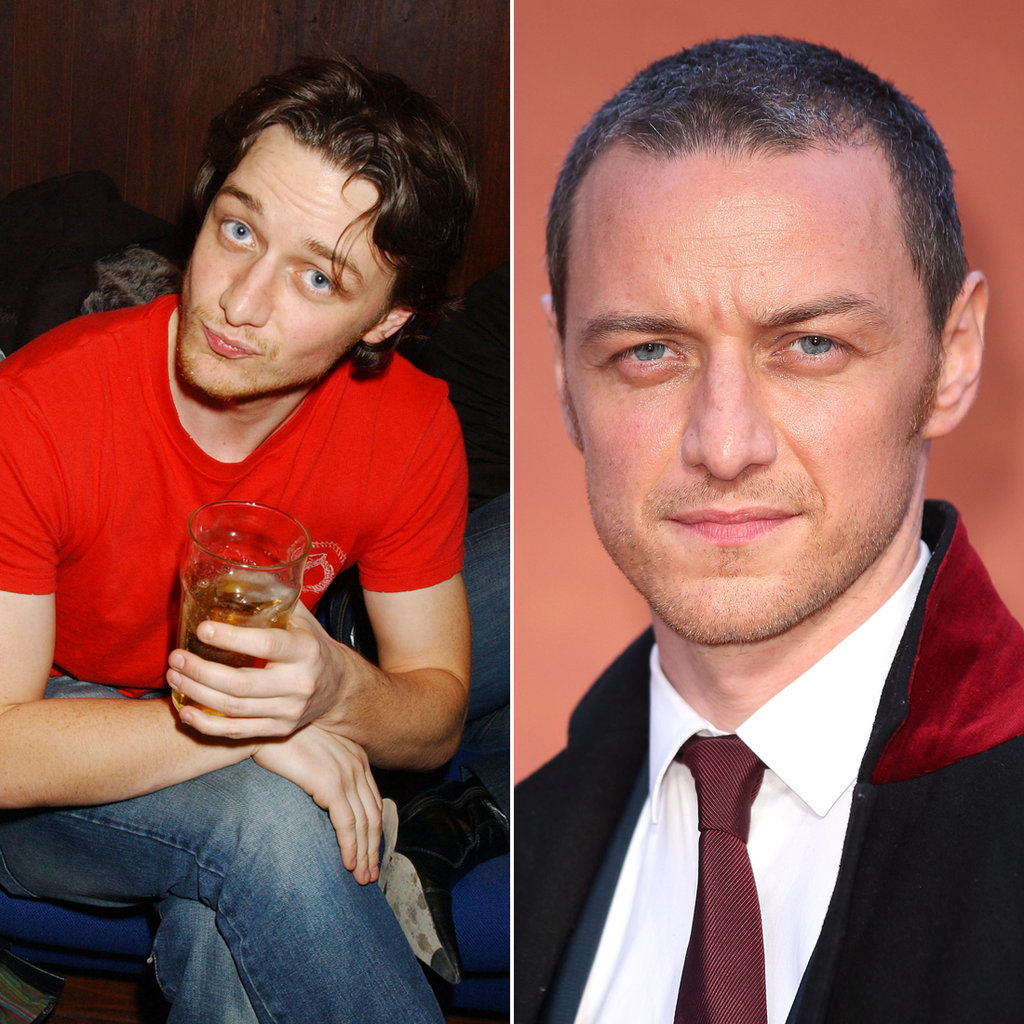 James McAvoy in 2005 and 2015