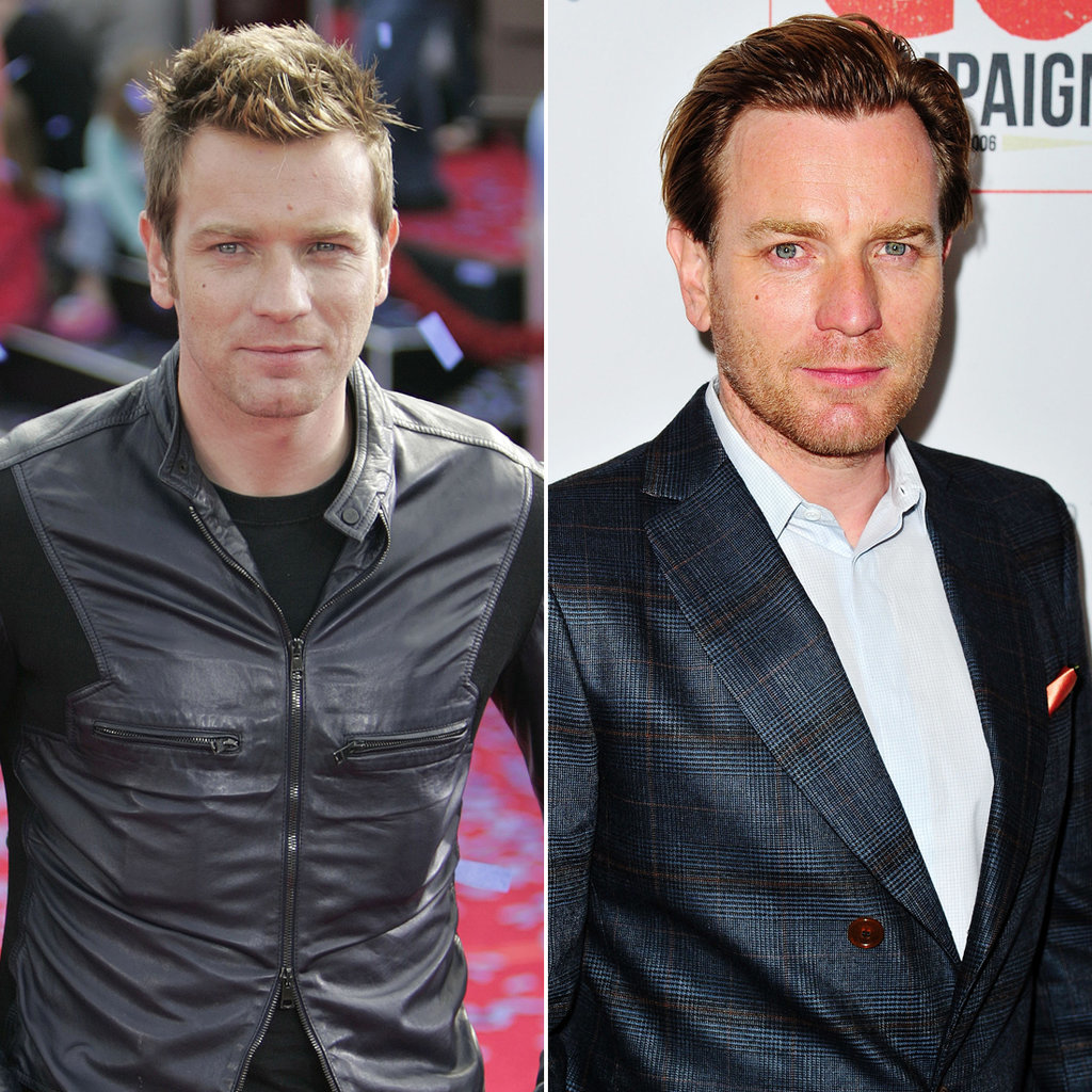 Ewan McGregor in 2005 and 2015