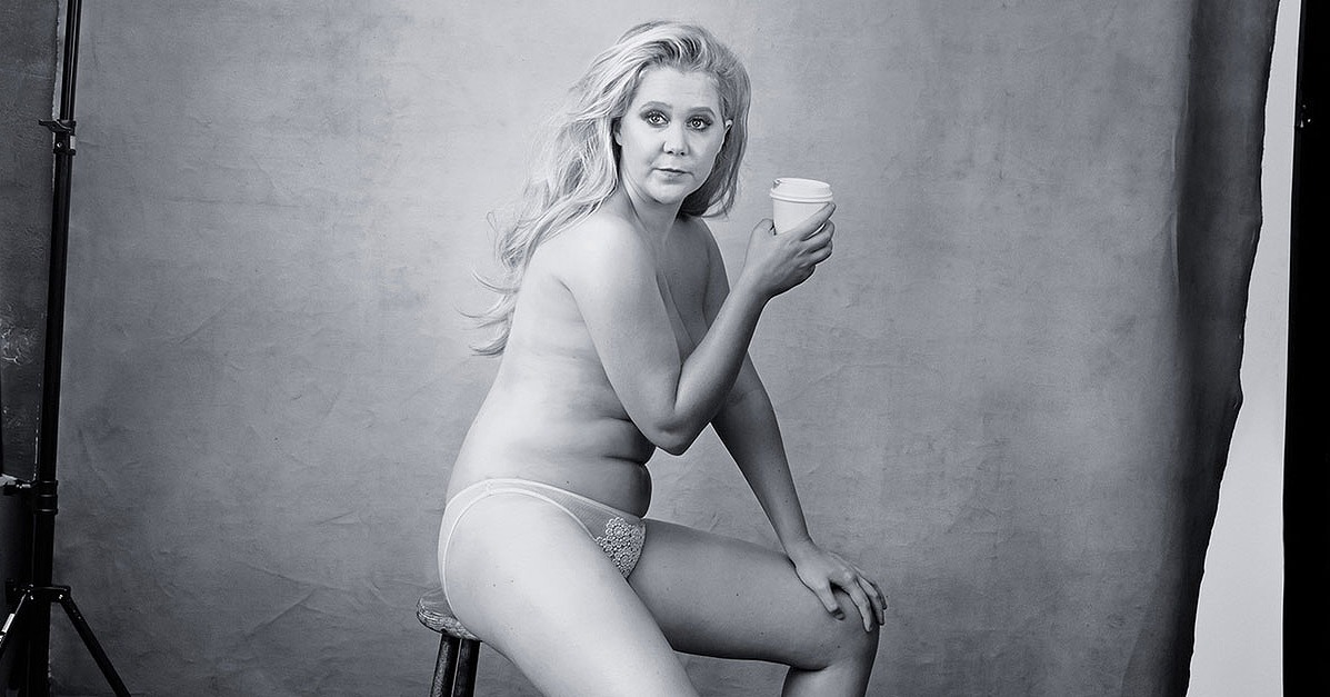 Amy Schumer Poses Nearly Naked for Pirelli Calendar - Mum