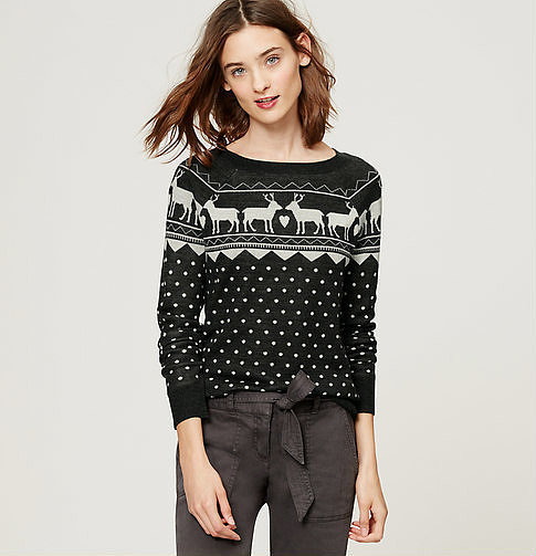 Loft Reindeer Fairisle Sweater ($60)
