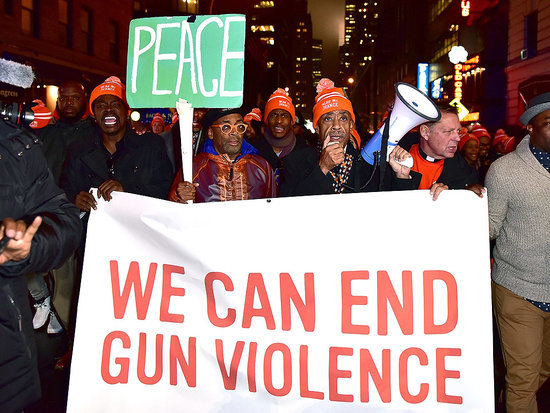 Spike Lee Takes to the Streets to Protest Gun Violence after Chi-Raq Premiere - and Blasts Chicago Mayor Mayor Rahm Emanuel