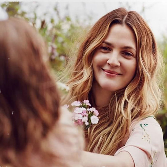 Drew Barrymore Christmas Card With Daughters 2015