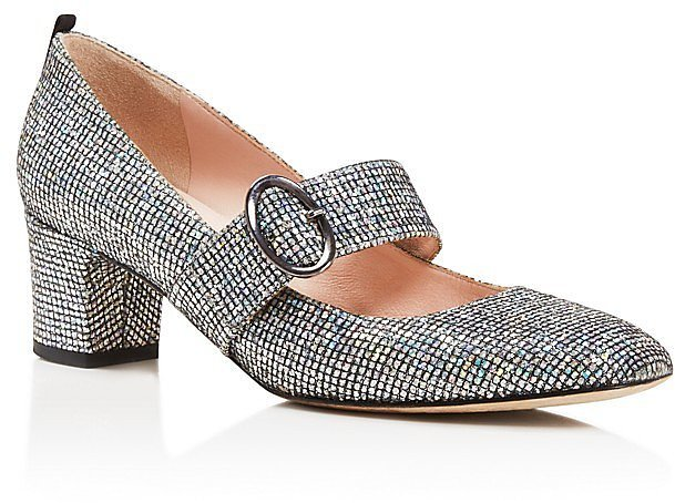 Sarah Jessica Parker Tartt Metallic Mary Jane Mid Heel Pumps ($385)