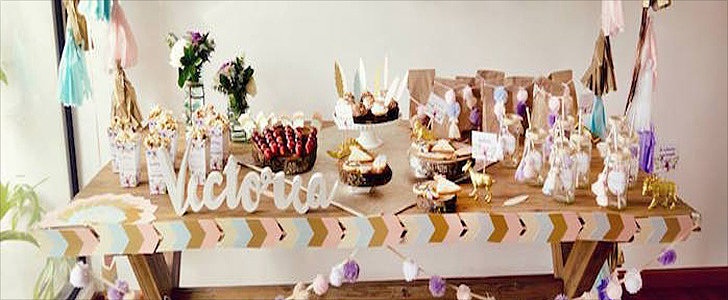 This Boho Baby Shower Embraces Pastel Colors and Rustic Details