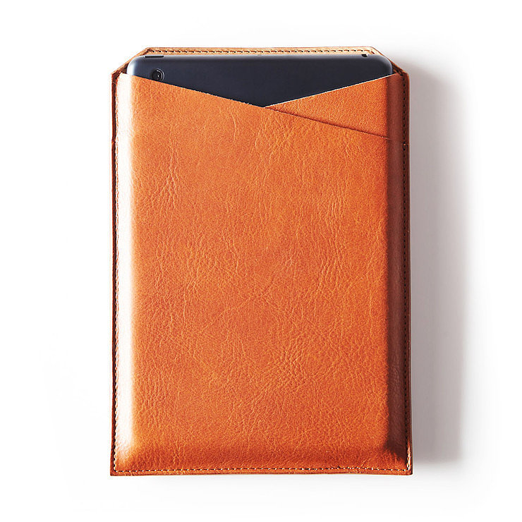 This good-looking leather iPad case ($85) is just the thing to score major points with pops.