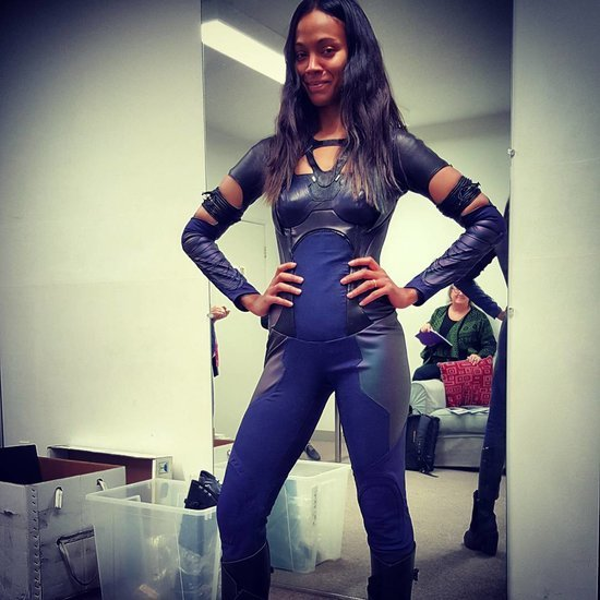 Zoe Saldana Gets Back Into Guardians of the Galaxy Costume