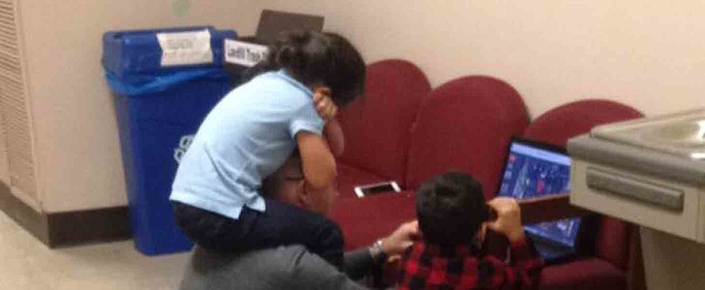 This Sweet Professor Looked After His Student's Kids While She Took Her Final