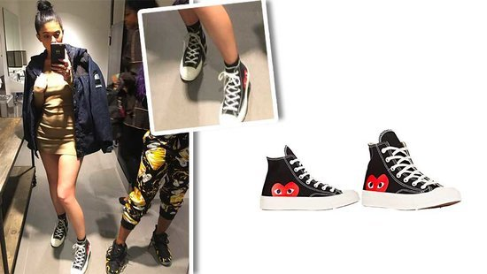 Kylie Jenner's Cool Commes Des Garcons Sneakers Are Shockingly Affordable