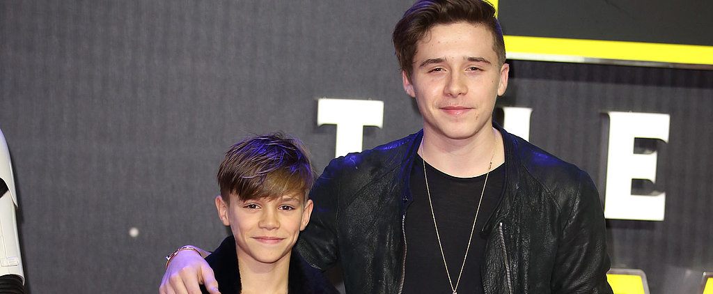 Brooklyn and Romeo Beckham Have a Brotherly Bonding Night — Matching Outfits and All