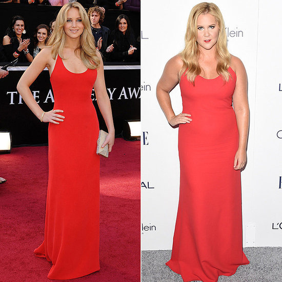 Jennifer Lawrence Not Wearing the Same Dress as Amy Schumer