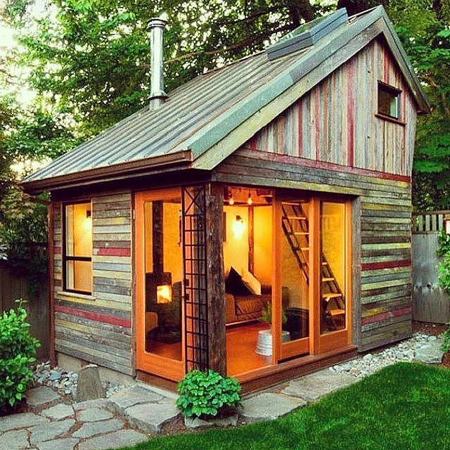 People turned tiny backyard sheds into the coolest part of ...
