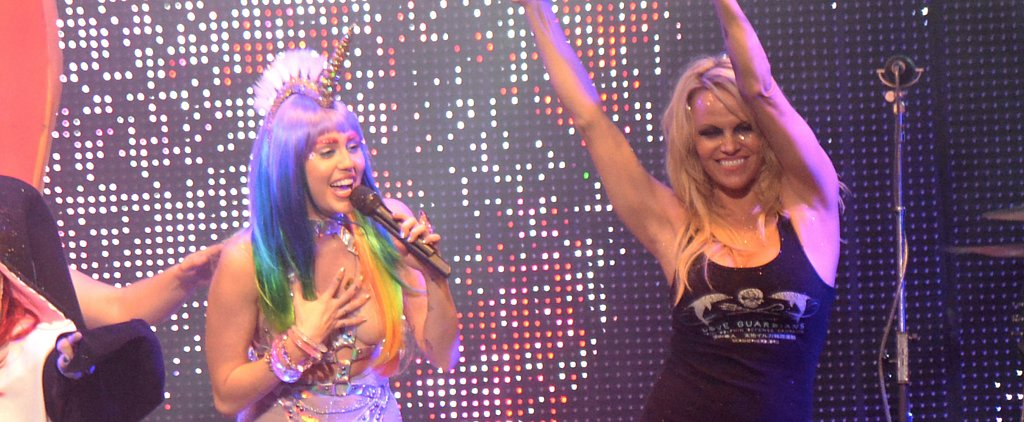 These NSFW Photos of Pamela Anderson on Stage With a Topless Miley Cyrus Really Need No Introduction
