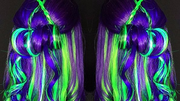 Glow-in-the-Dark Rainbow Hair Is Now a Thing