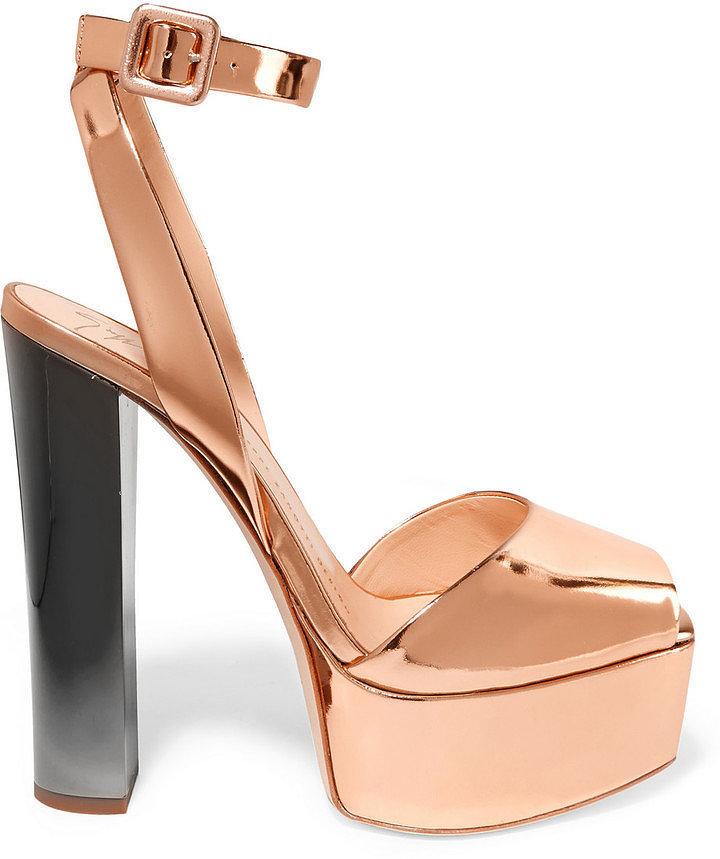 Giuseppe Zanotti Mirror Platform Sandal ($795)