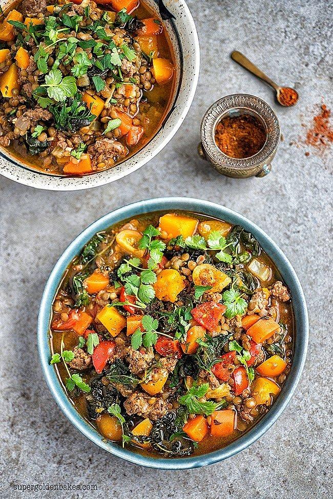 Lamb, Lentil, and Squash Stew