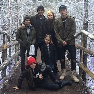 Victoria Beckham rang in the holidays with her famous brood.