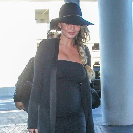 Chrissy Teigen and John Legend at LAX December 2015