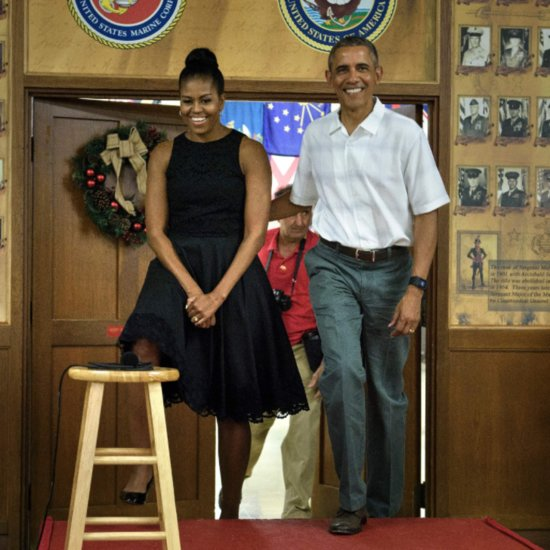 Michelle Obama's Christmas Dress 2015