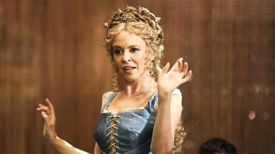 FIRST LOOK: Kylie Minogue Strips Joshua Sasse Down in Sexy, New 'Galavant' Number