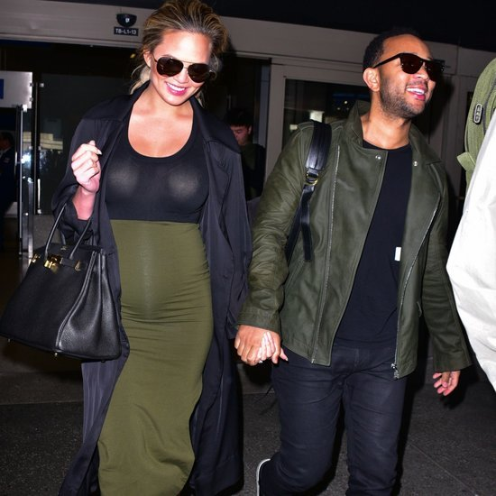 John Legend and Chrissy Teigen Arriving at LAX January 2016