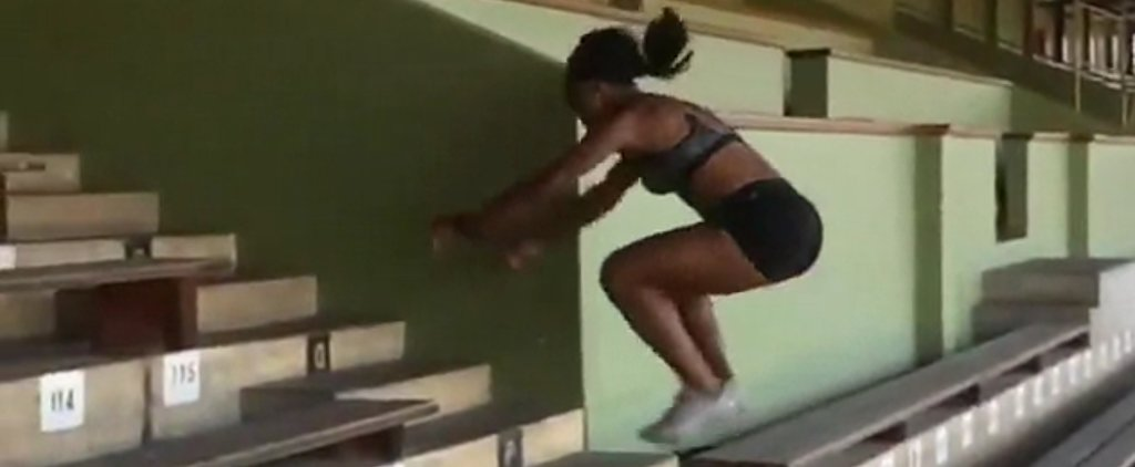 You Have to See This Olympian's Epic Stair-Jump Workout to Believe It