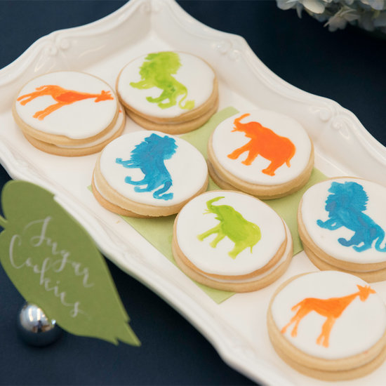 Watercolor Safari Baby Shower