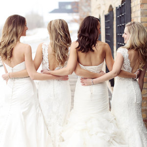 Best Friend Wedding Dress Photo Shoot