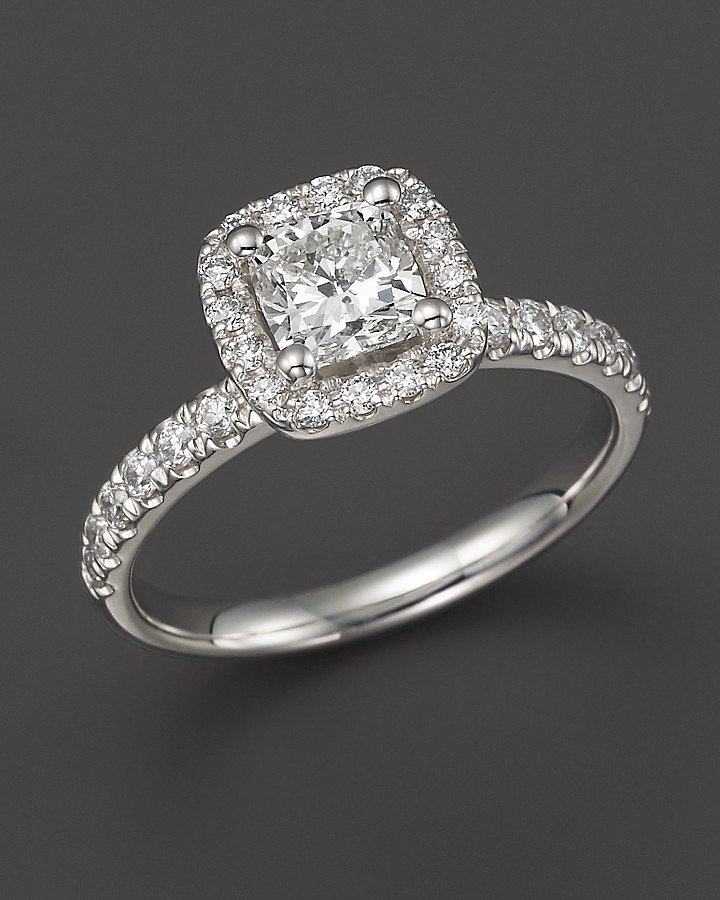 bloomingdale s cushion cut halo engagement ring